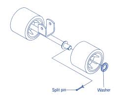 Stainless Steel Split Pins & Washers Installation